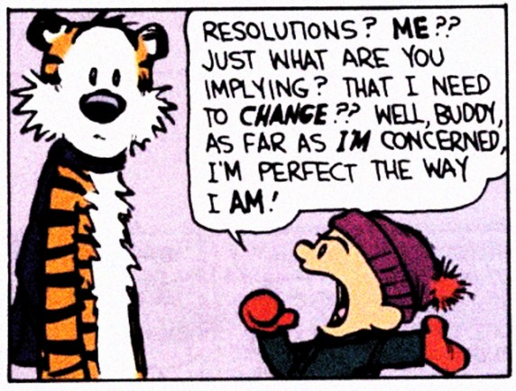 Calvin and Hobbes New Year Resolution