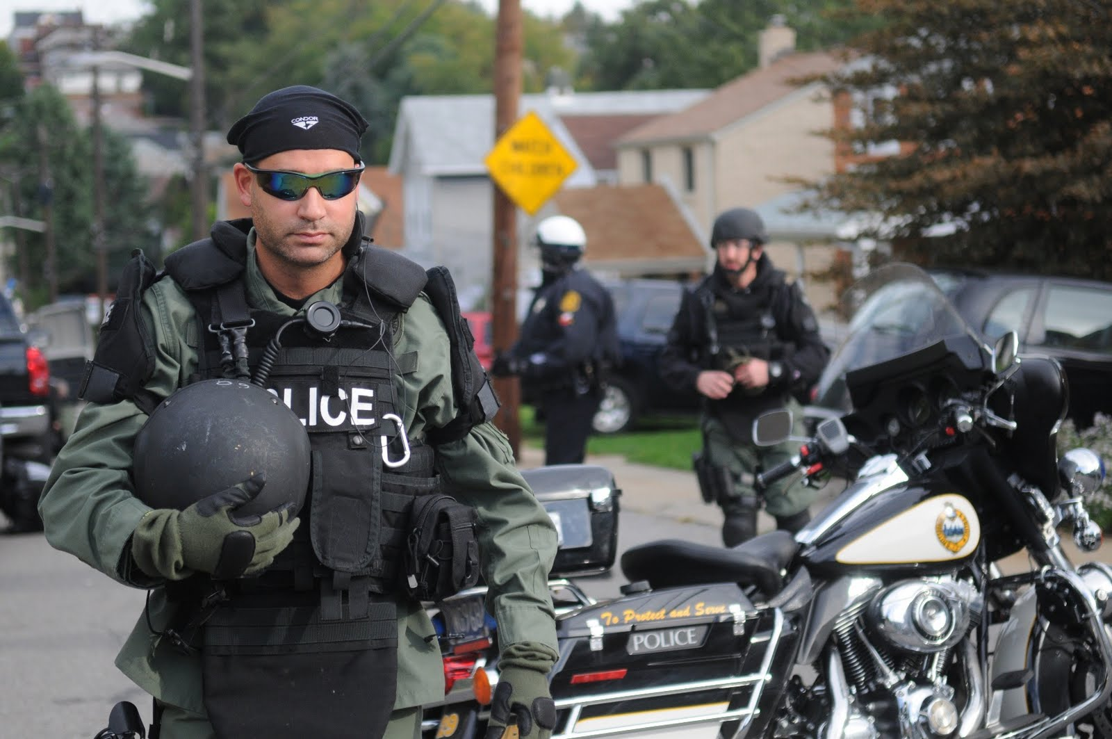 I took this photo while covering a story about a police standoff for the Post-Gazette