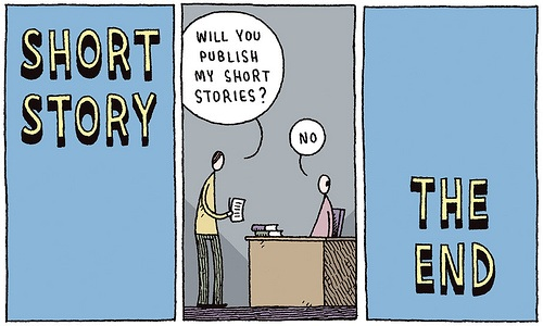 Getting the short story published is a challenge because the market is so small.