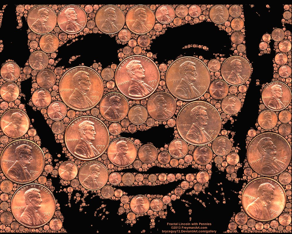 fractal_lincoln_with_pennies_by_bryceguy72-d5slfdq
