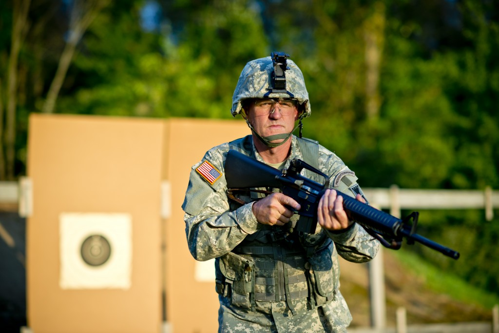 Lt. Col. John Cletus Paumier is an orthopedic surgeon, officer in charge of the Army Reserve Marksmanship Program and command surgeon to the 416th Theater Engineer Command, headquartered in Darien, Illinois. (U.S. Army photo by Sgt. 1st Class Michel Sauret)