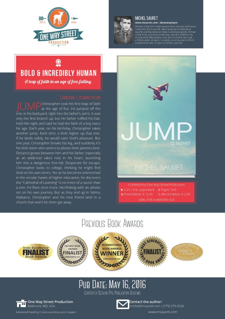 Sample Book Sell Sheet, Novel, JUMP